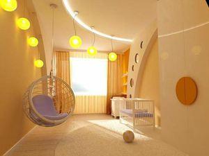 Дизайн потолков из гипсокартона в детской