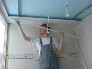 Разметка реечного потолка при монтаже