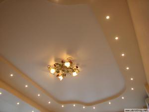Матовый оттенок на потолке