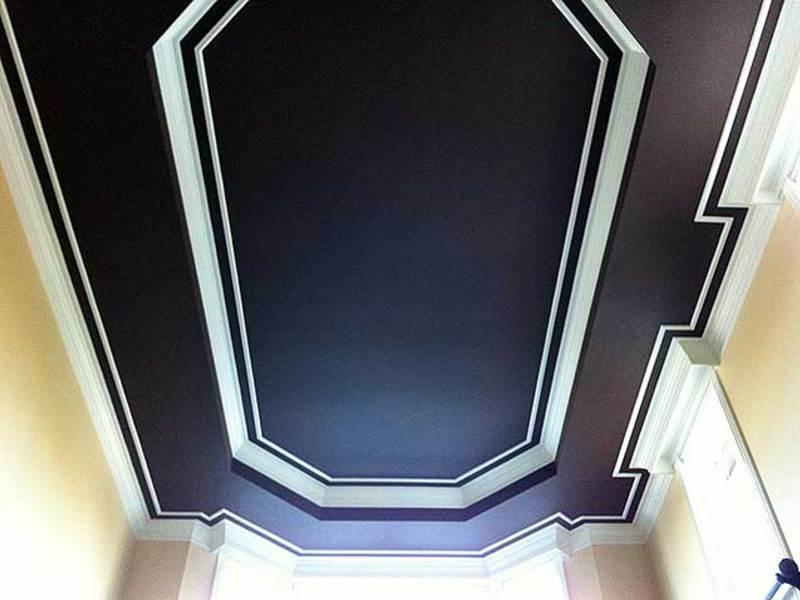 Потолок, крашеный водоэмульсионной краской