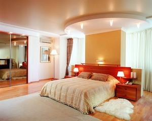 Узоры на потолке из гипсокартона спальня фото