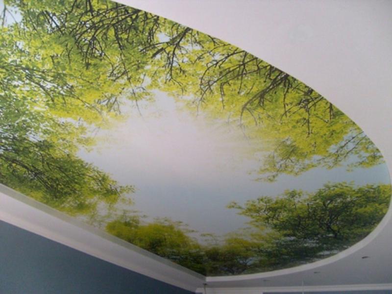 рисунки натяжные потолки фото
