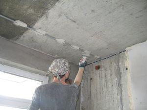 шпаклевка потолка своими руками материалы