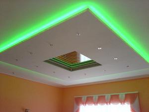 Неоновые потолки из светодиодов