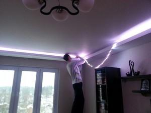 Светодиодная лента установка своими руками