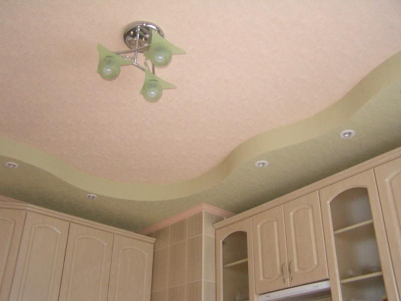 Потолок из гипсокартона на кухню своими руками