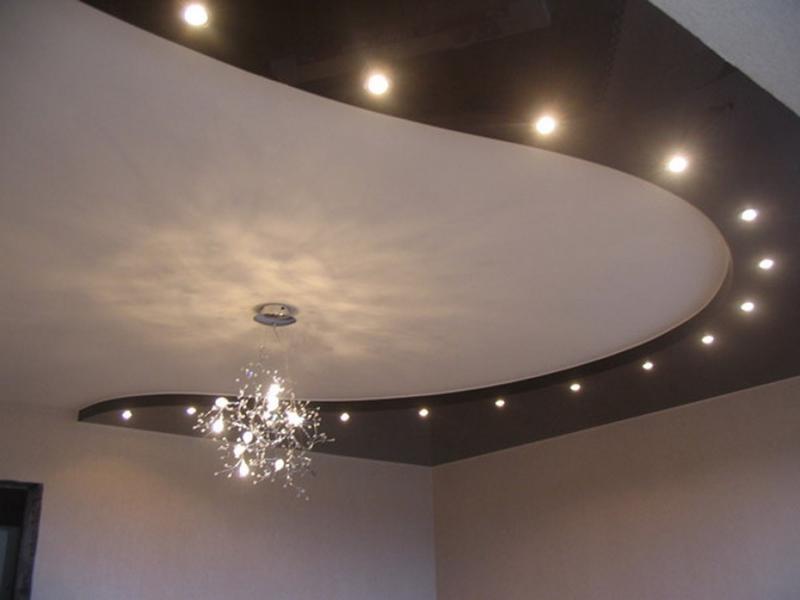 Фото двухуровнего потолка