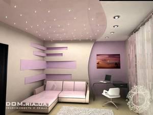 Дизайн потолка с использованием точечных светильников