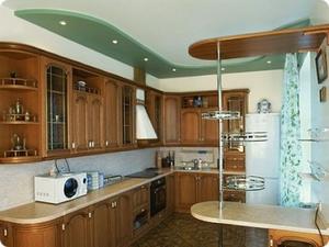 Потолки из гипсокартона для кухни