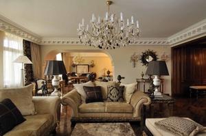 Роскошная классика люстра в гостинной