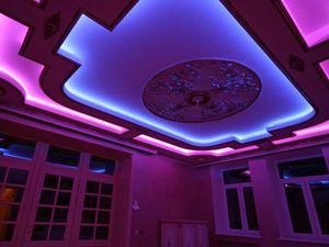 Энергосберегающие лампы в натяжном потолке