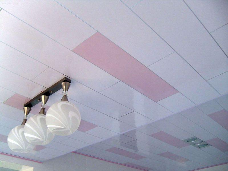 Отделка потолка пвх панели своими руками 7