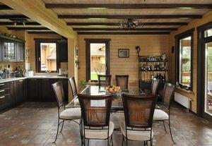 Интересный дизайн деревянного потолка