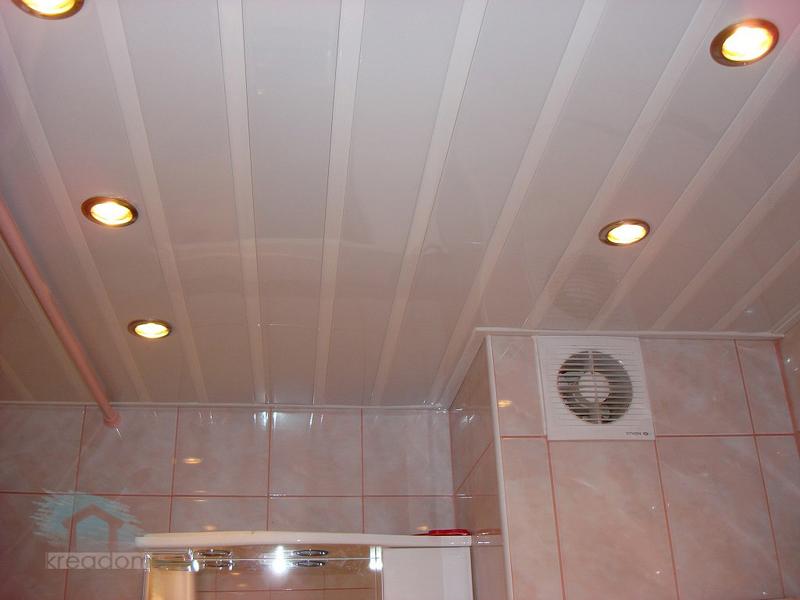 Потолки из панелей пвх своими руками в ванной