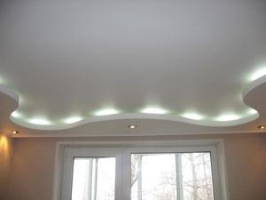 Фото готового потолка с подсветкой