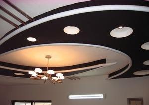 Эффектный потолок из гипсокартона