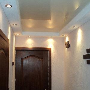 потолки натяжные в коридоре дизайн фото