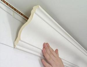 Плинтус полиуретановый для натяжных потолков полиуретановый клей спрей