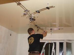 Как снять натяжной потолок и натянуть обратно